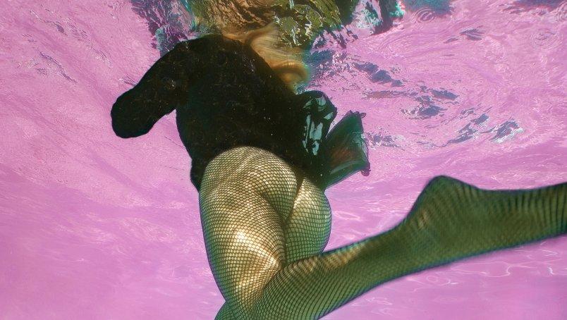 Zwembadbillen op de kiek