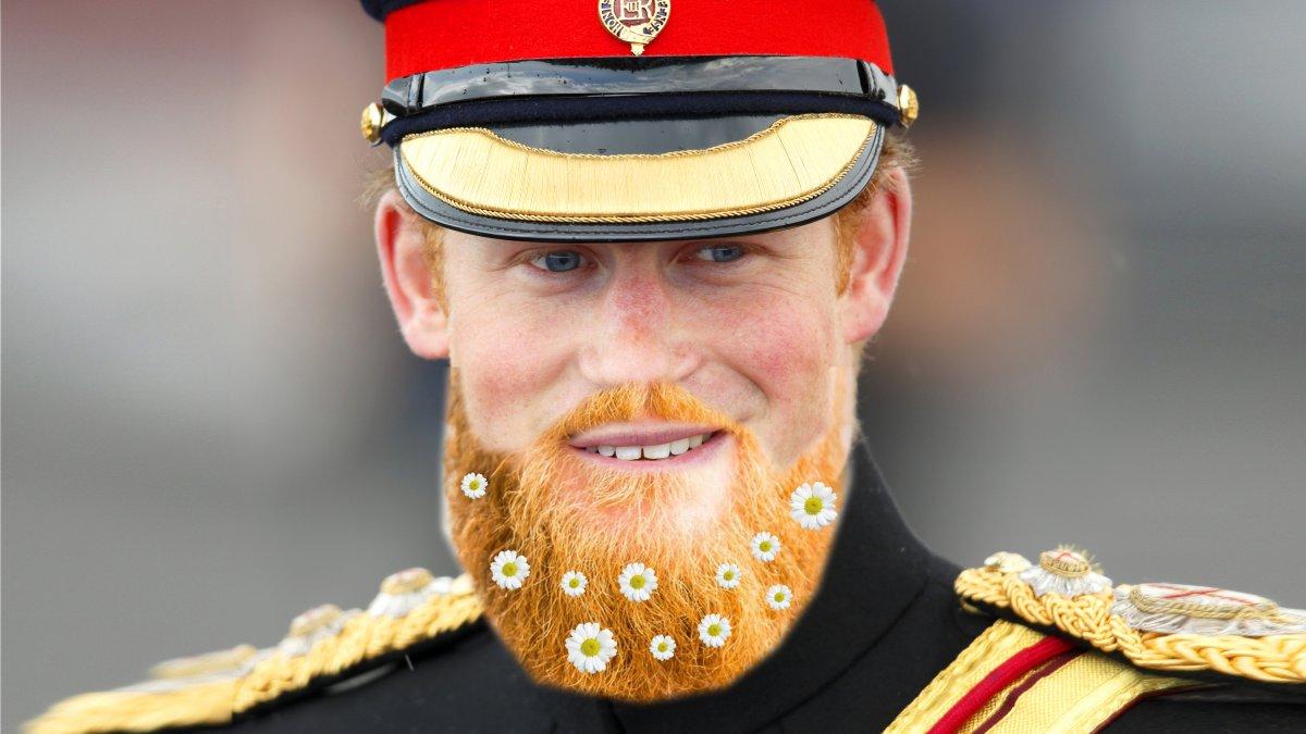 Prins Harry trouwt zonder baard