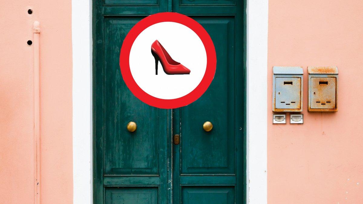 Schoenen uit in huis
