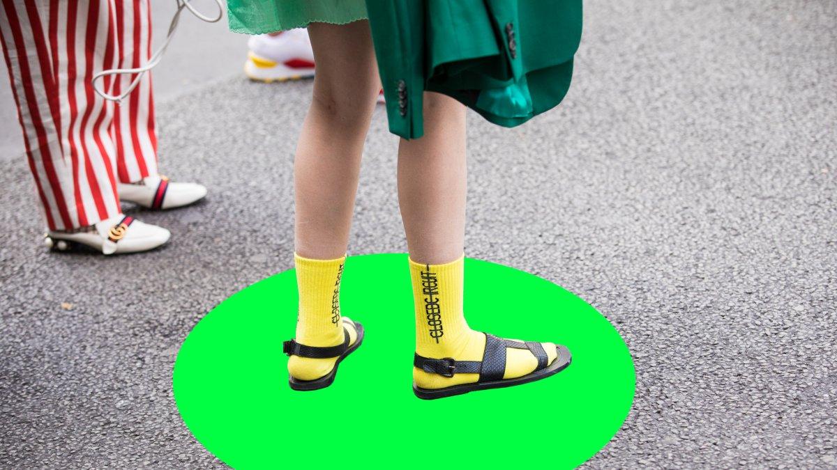 sandalen in sokken