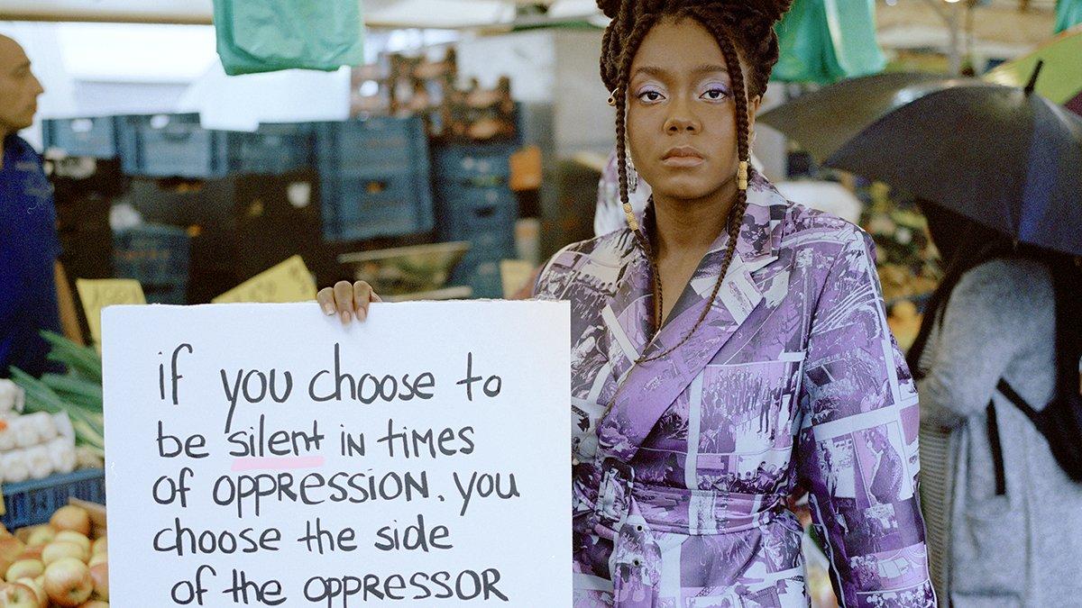 portret, racisme, protest