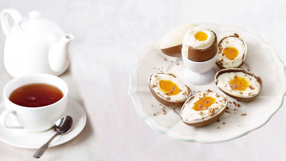 Cheesecake chocolade eieren