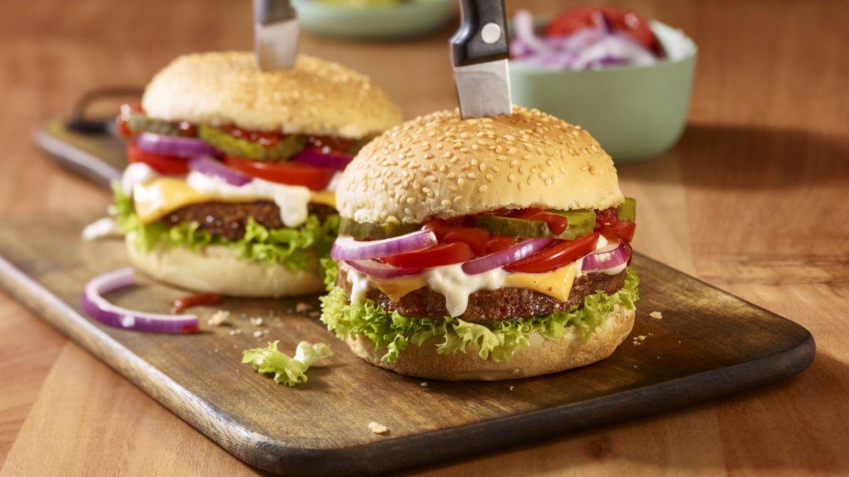 Plantaardige hamburgers