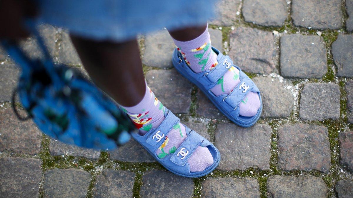Sokken in sandalen