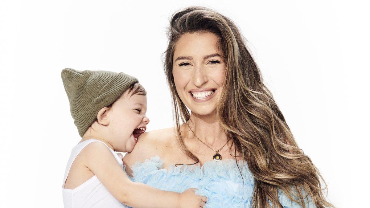 Xelly Cabau van Kasbergen, bevallen, baby