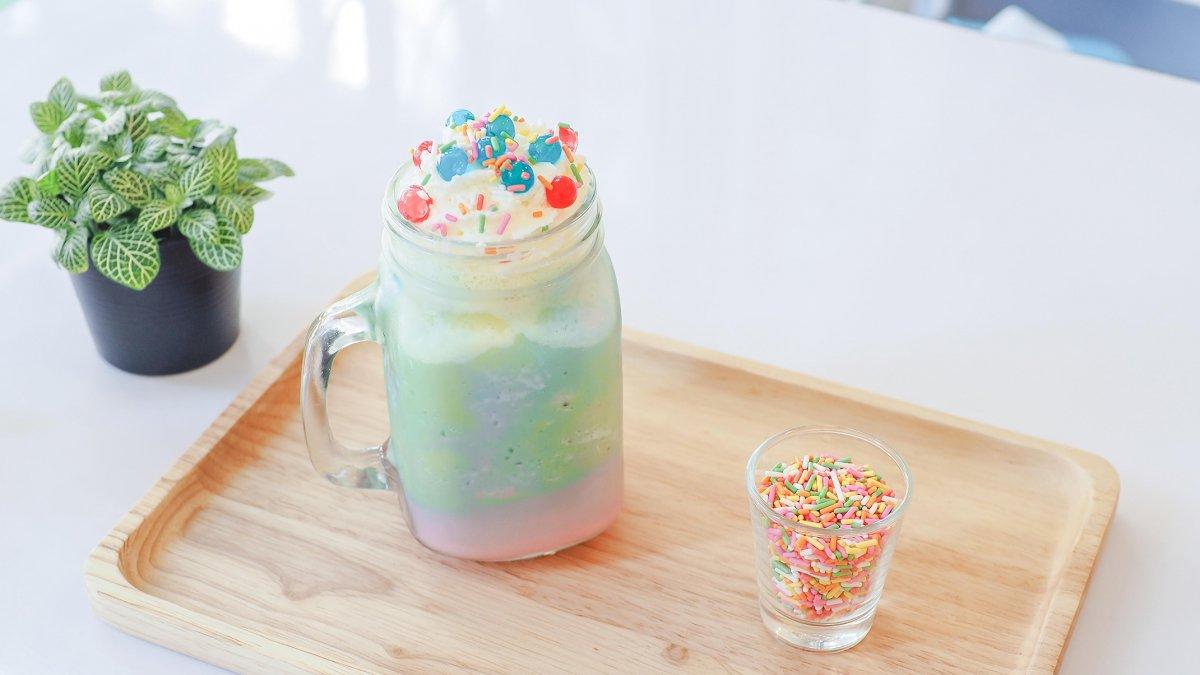 milkshake, regenboog